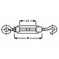SPANSCHROEF RVS OOG/HAAK 10 MM